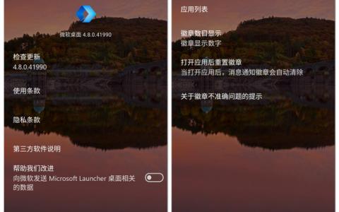 微软桌面(Microsoft Launcher)V4.8发布:神秘小版本