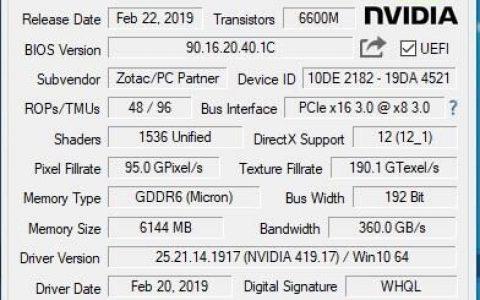 检测工具GPU-Z发布V2.17.0版:支持大量新显卡