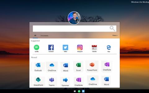Windows Lite截图曝光:界面对标Chrome OS