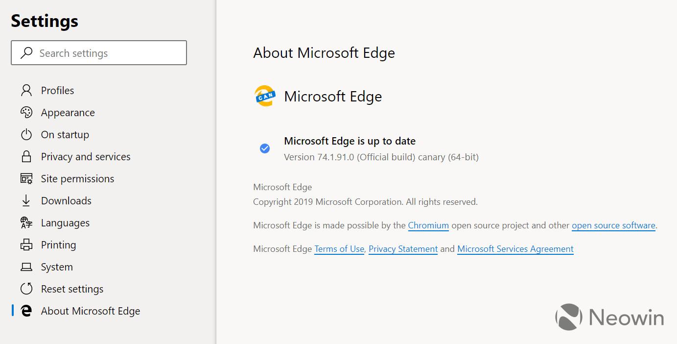 微软Chromium内核Edge浏览器截图流出