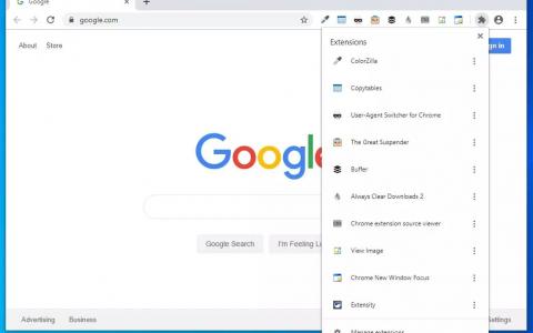Chrome浏览器正测试新的扩展菜单