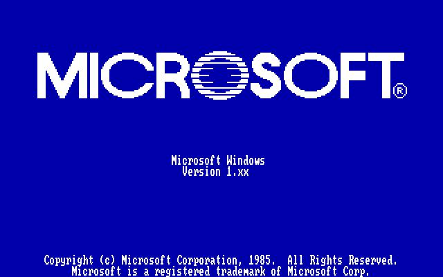 微软突然宣传 Windows 1.0