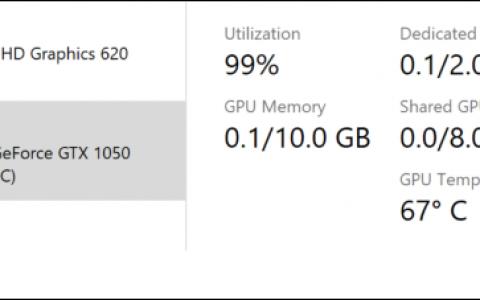 Win 10最新预览版支持GPU温度显示