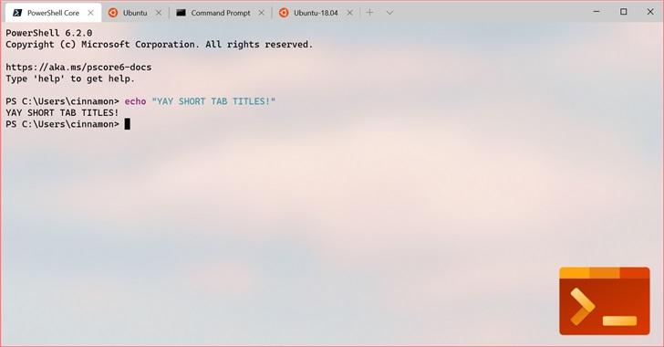 Windows Terminal v0.7发布:支持分屏+选项卡重排