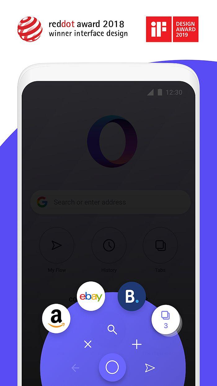 Opera Touch浏览器更新:支持安卓Q暗黑模式