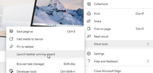 Chromium Edge新功能:固定站点到任务栏