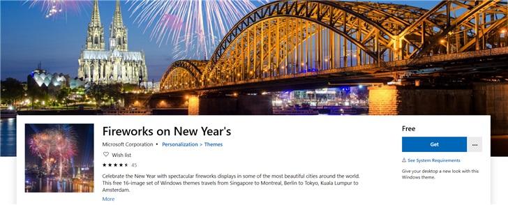 """微软发布""""新年焰火""""Windows 104K壁纸包 第1张"""