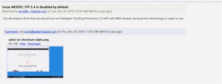 疑Windows版苹果Chromium Safari浏览器截图曝光:已被证伪