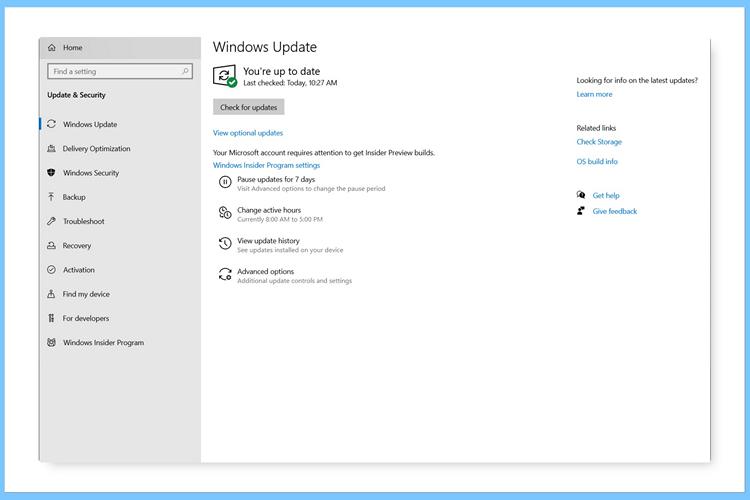 Windows 10 Insider Build 19536支持可选更新 第1张