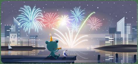 谷歌发布2020跨年迎新Doodle 第1张