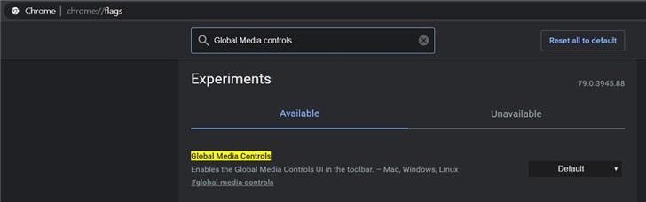 Chrome浏览器新增全局媒体播放控件的图片 第3张