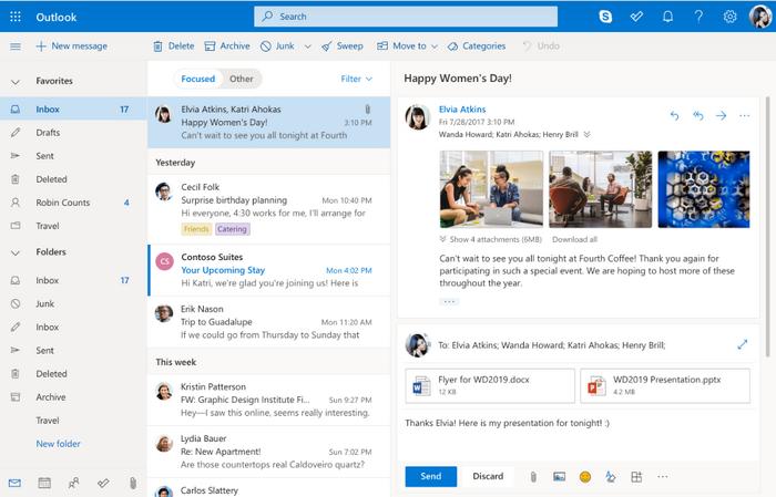 Web版Outlook将支持发别名电子邮件
