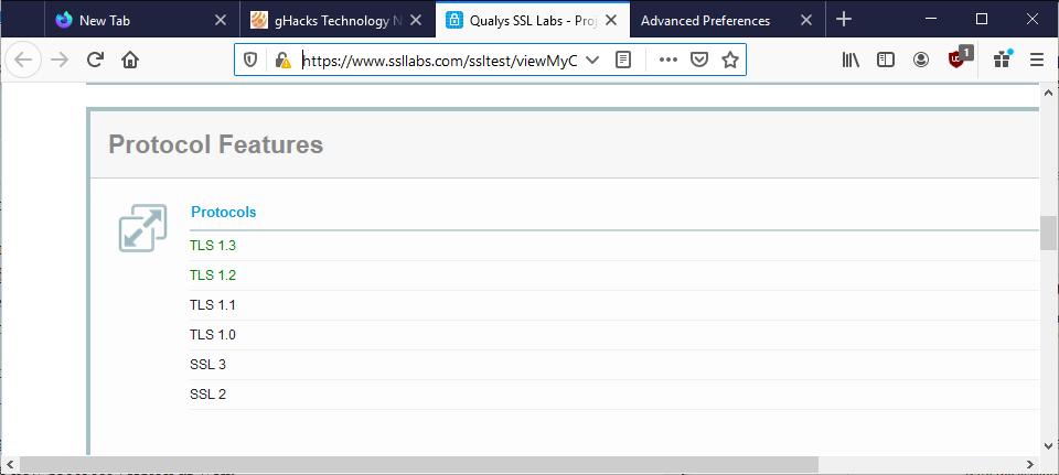 火狐等浏览器将不支持加密协议TLS 1.1及更旧版本的图片 第1张