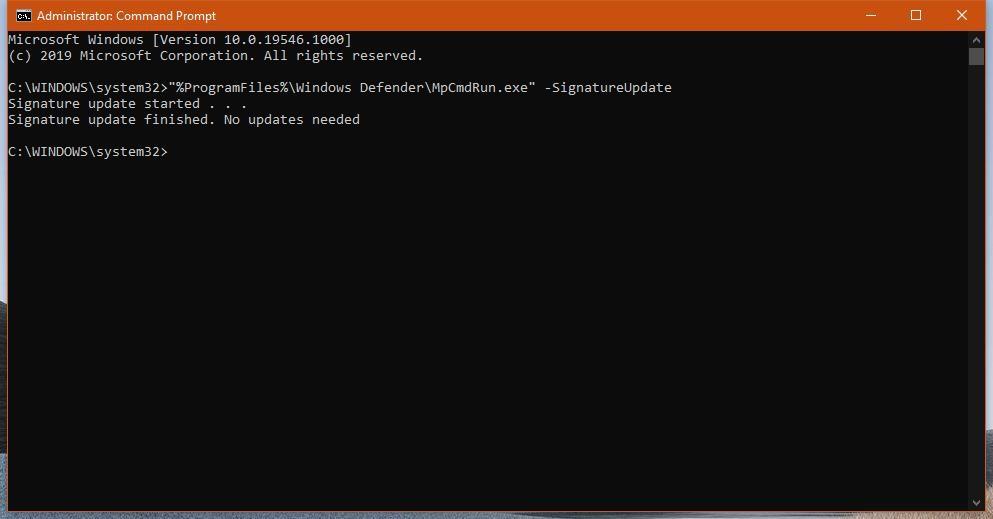 在Windows 10中更新Windows Defender定义