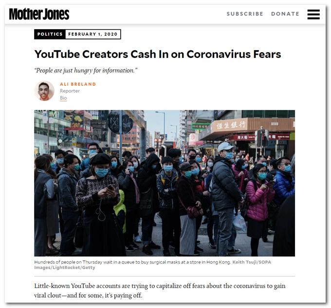 YouTube频道主被批:制作疫情虚假内容 圈粉捞财