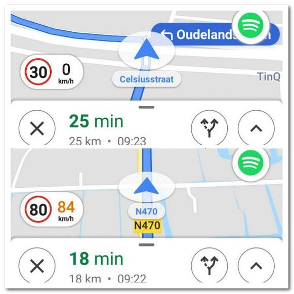谷歌地图测试当前速度和限速显示功能