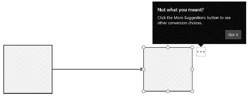 空白的白色框和右侧的黑色连接器转换框。
