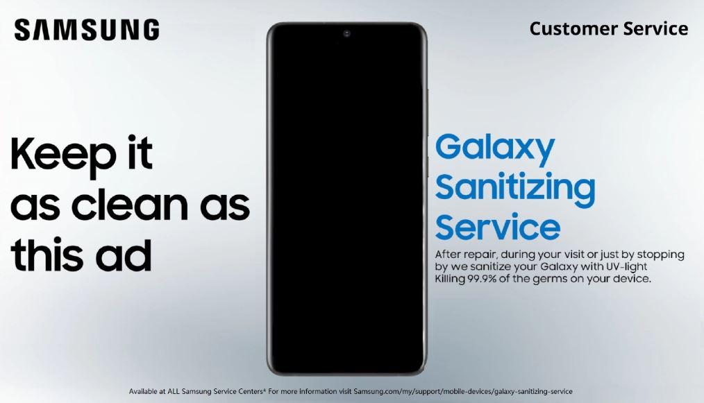 三星为所有移动客户提供免费的Galaxy Sanitizing Service对抗冠状病毒1