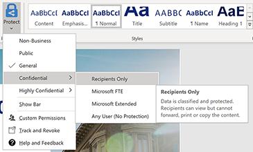 Word文档的图像,显示如何访问权限。