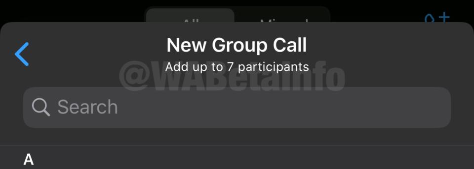 WhatsApp安卓版beta v2.20.141发布:群组通话升至8人