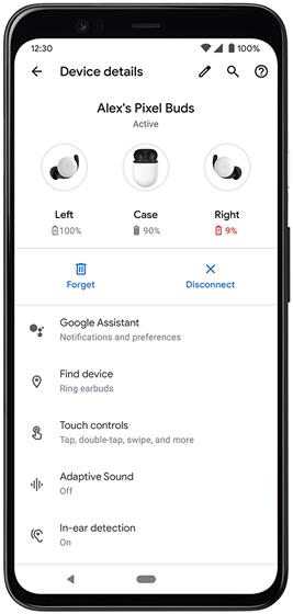 谷歌将为Pixel Buds推出查找耳机、电量监测等功能
