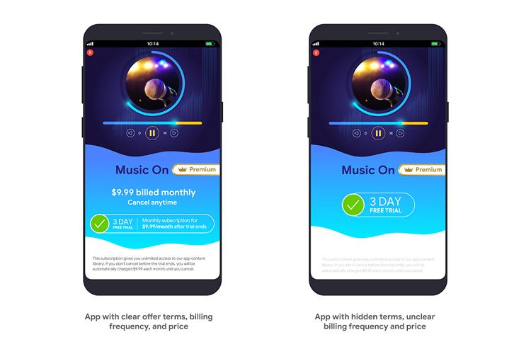 谷歌Play商店政策更新:应用内购买应描述清晰,禁止诱导