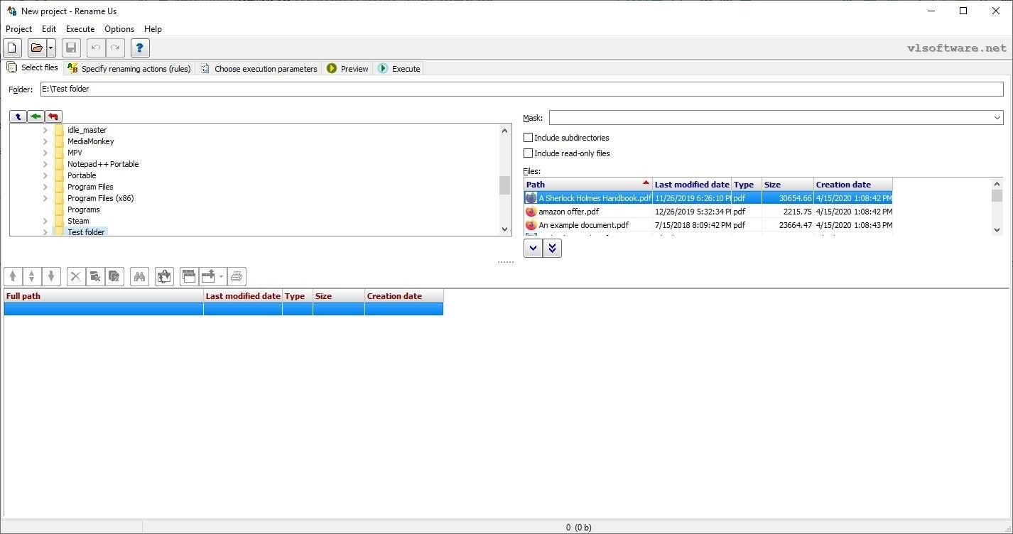 重命名我们是Windows的免费批量重命名实用程序