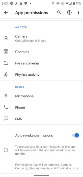 几个月没用的App,Android 11将自动撤销权限