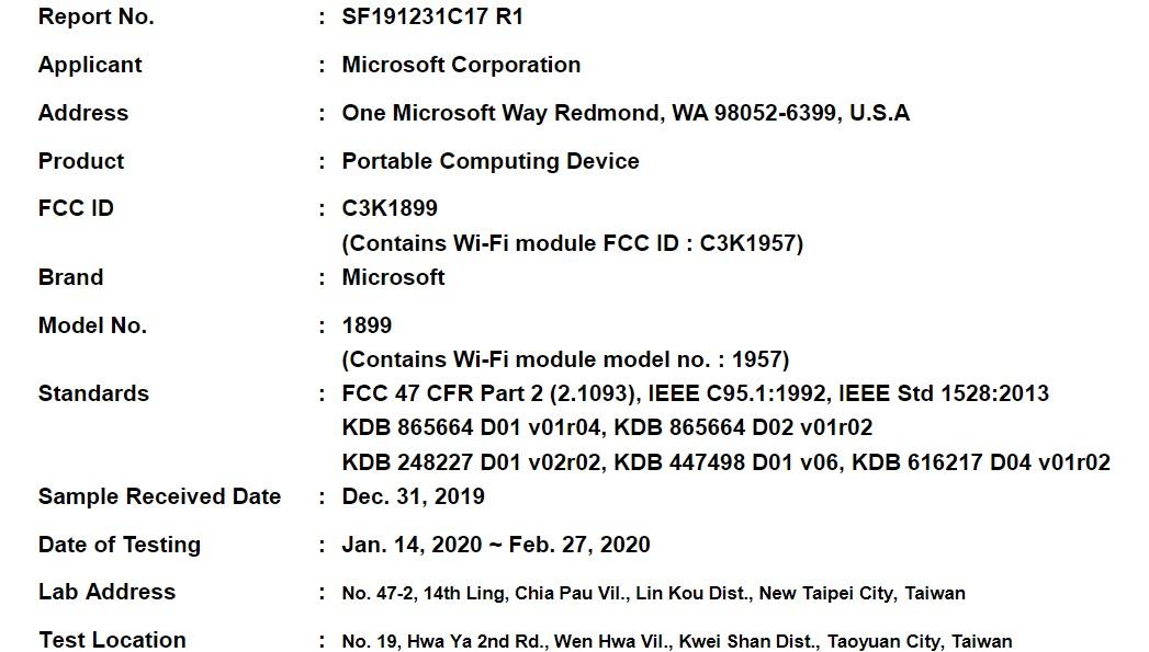即将面世的Surface Book 3现在已通过FCC认证,暗示即将推出1