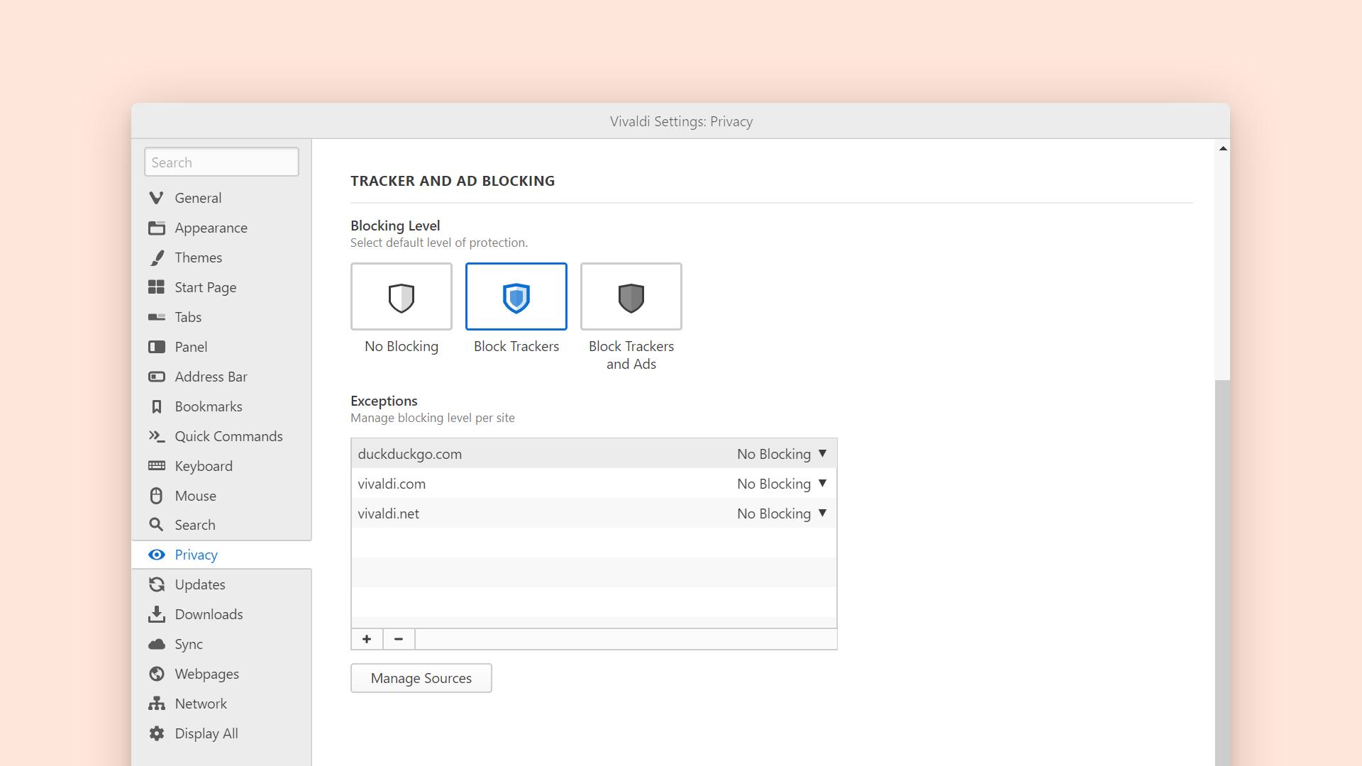 Vivaldi浏览器已更新为带有内置Tracker阻止程序和更多2的v3.0