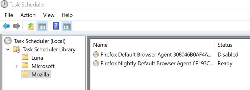 firefox浏览器代理任务已禁用