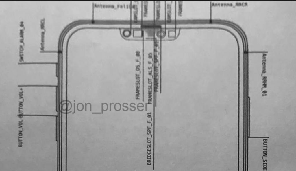 疑似iPhone 12设计图曝光:更小刘海,更细边框