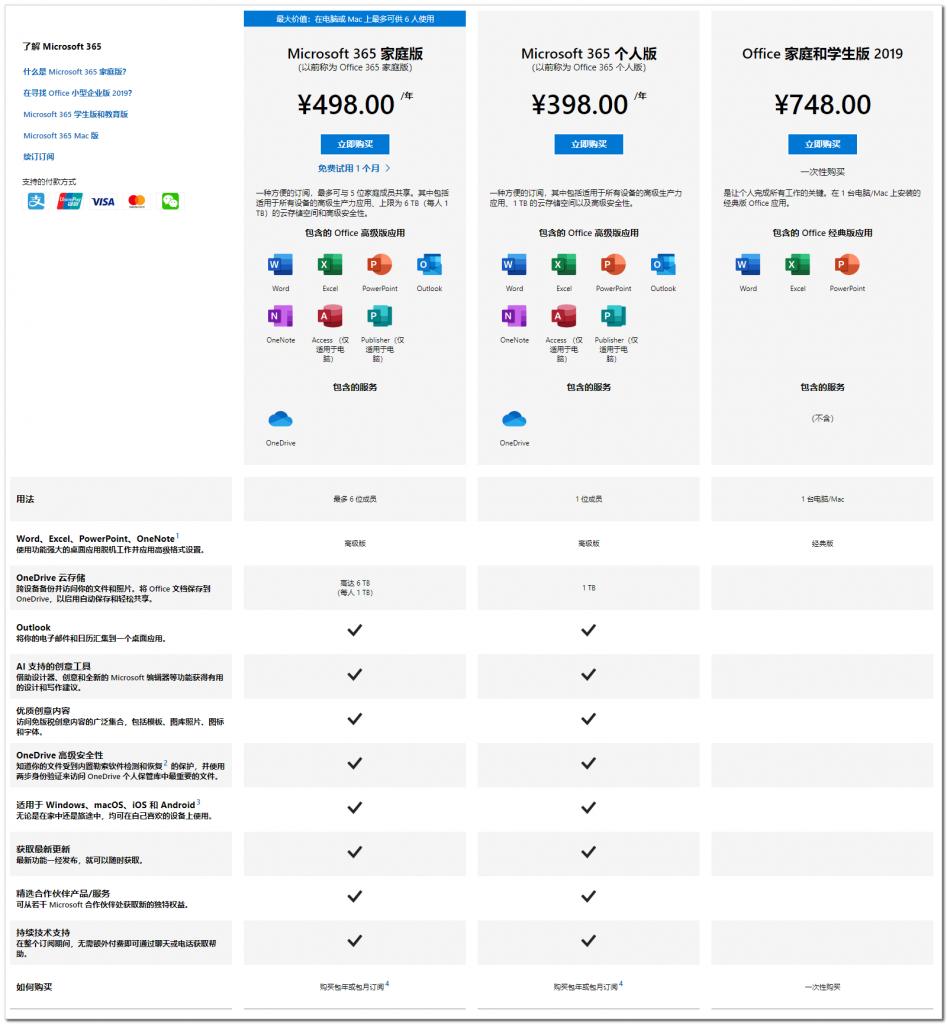 微软上线全新Microsoft 365订阅计划