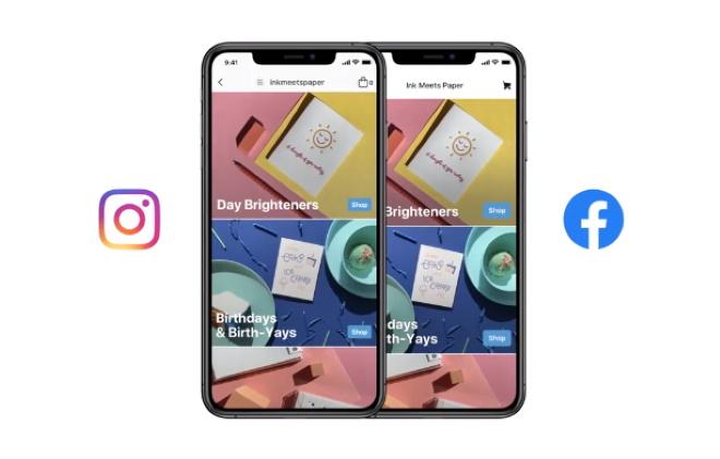 Instagram上的facebook商店