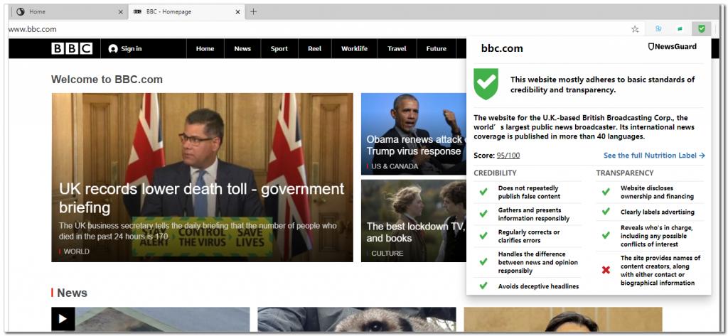 微软引入网站评级扩展NewsGuard:Edge用户免费用