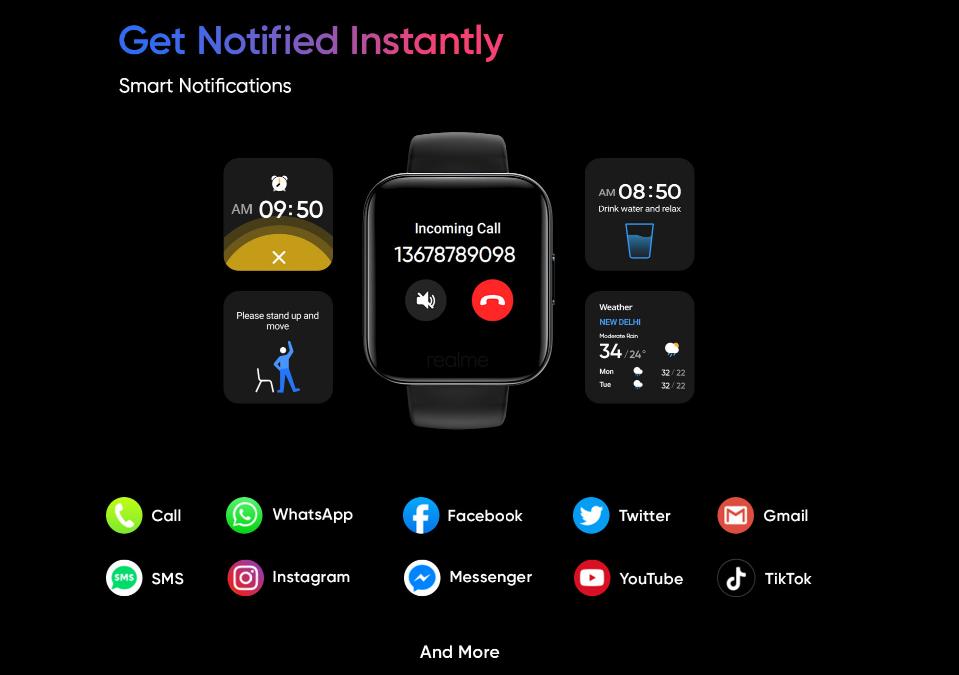 Realme Watch外观终曝光:14种运动模式,Logo太大被吐槽