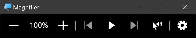 Windows 10放大镜