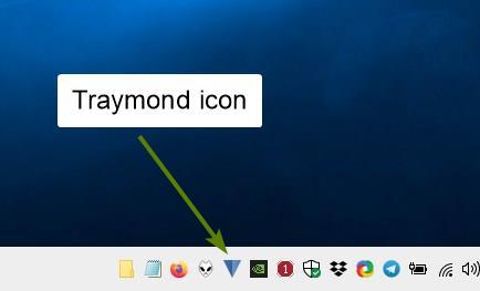 Traymond是一种可以最小化系统托盘程序的工具