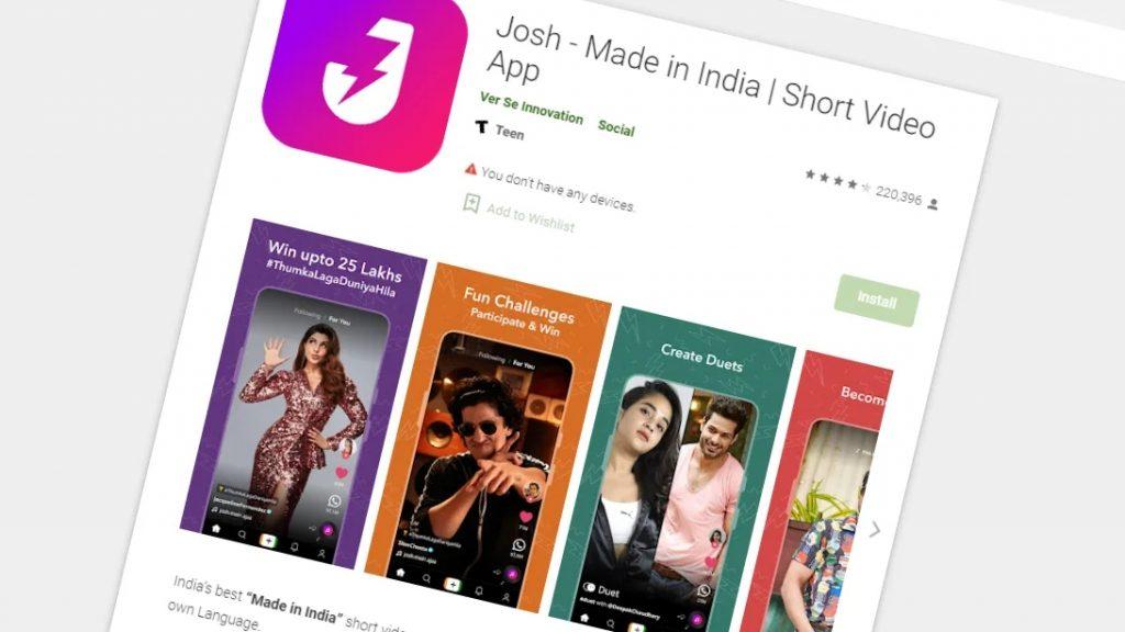 寨版抖音:印度短视频应用Josh获1亿美元融资