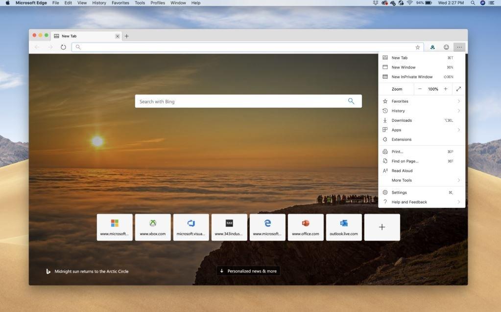 Mac版Microsoft Edge