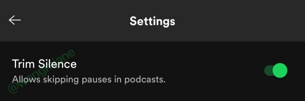 消除音频空档,Spotify将支持Trim silence功能