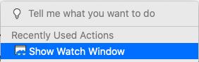 Excel中的监视窗口。
