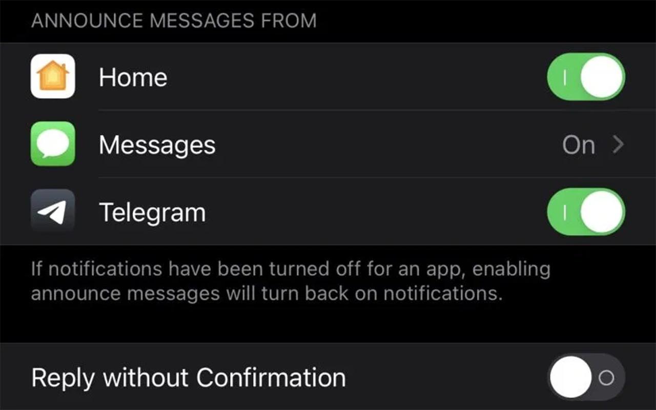 「电报」App新功能:支持Siri读消息