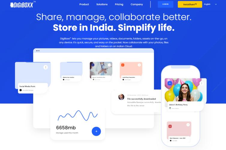 digiboxx-印度Google驱动器替代