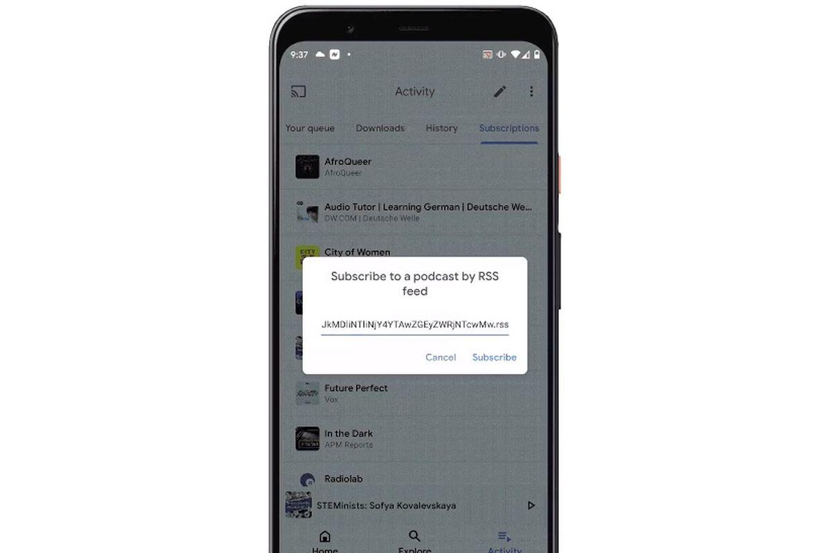 谷歌播客App更新:最新支持RSS订阅功能