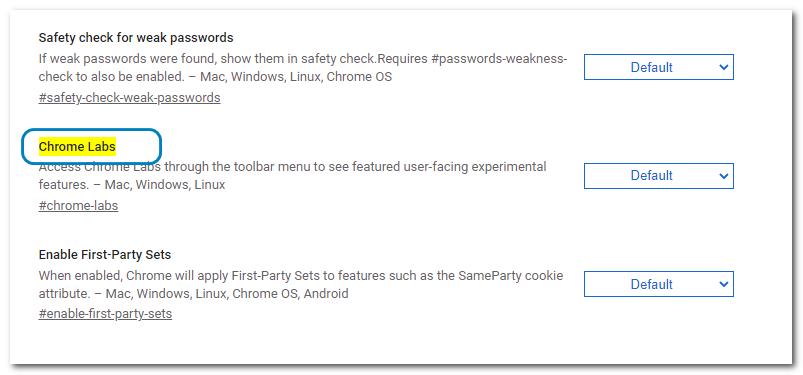 Chrome Labs:体验Chrome新功能更方便了