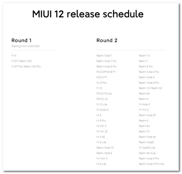 小米官方:MIUI 12已推送到30多款设备