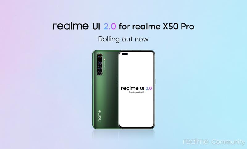 Realme X50 Pro迎来Realme UI 2.0稳定版