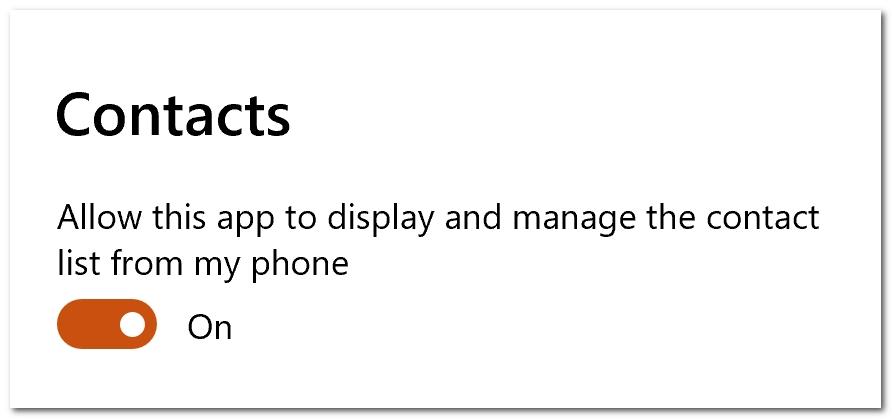 微软「你的手机」更新:Win 10上可查看手机联系人