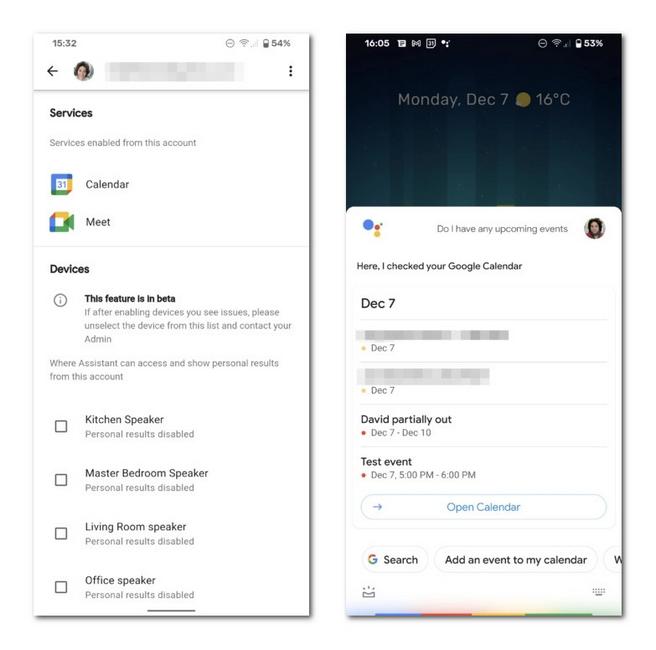 Google Assistant新功能:可访问两个账户上的日历和会议